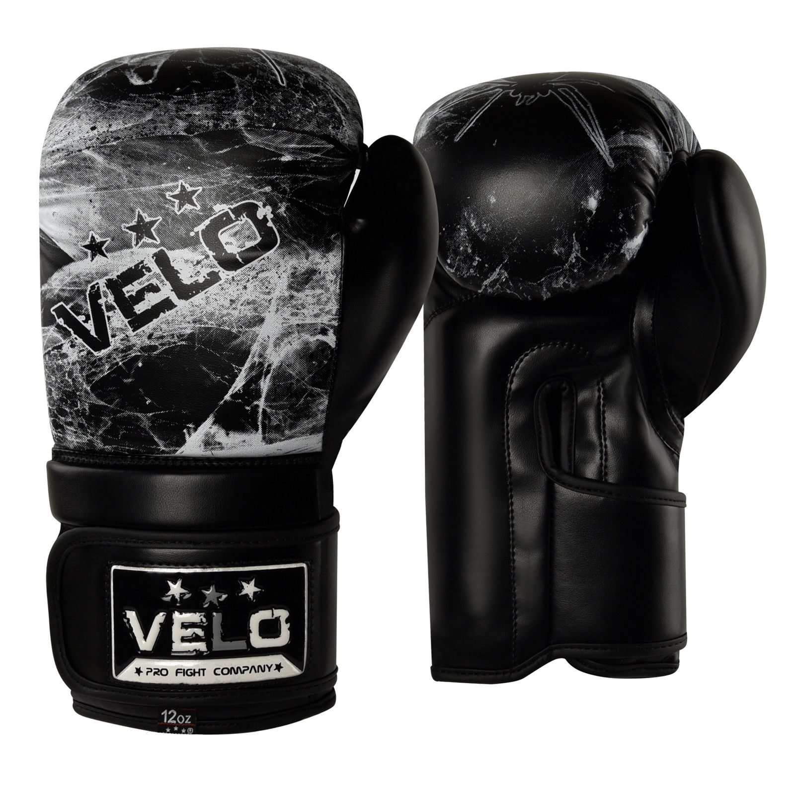 VELO Boxing Gloves - Black Boxing Gloves