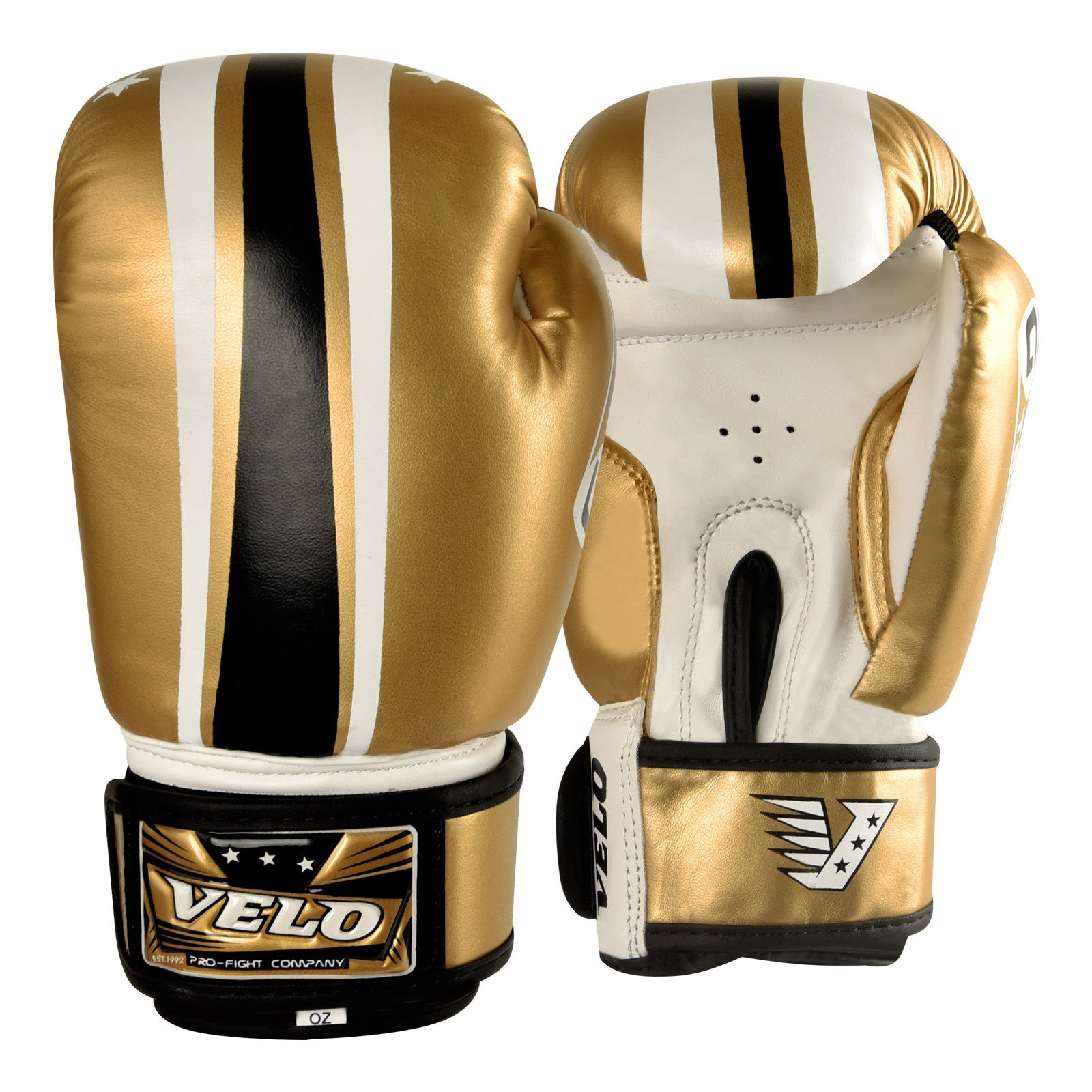 VELO Boxing Gloves - Gold-White-Black