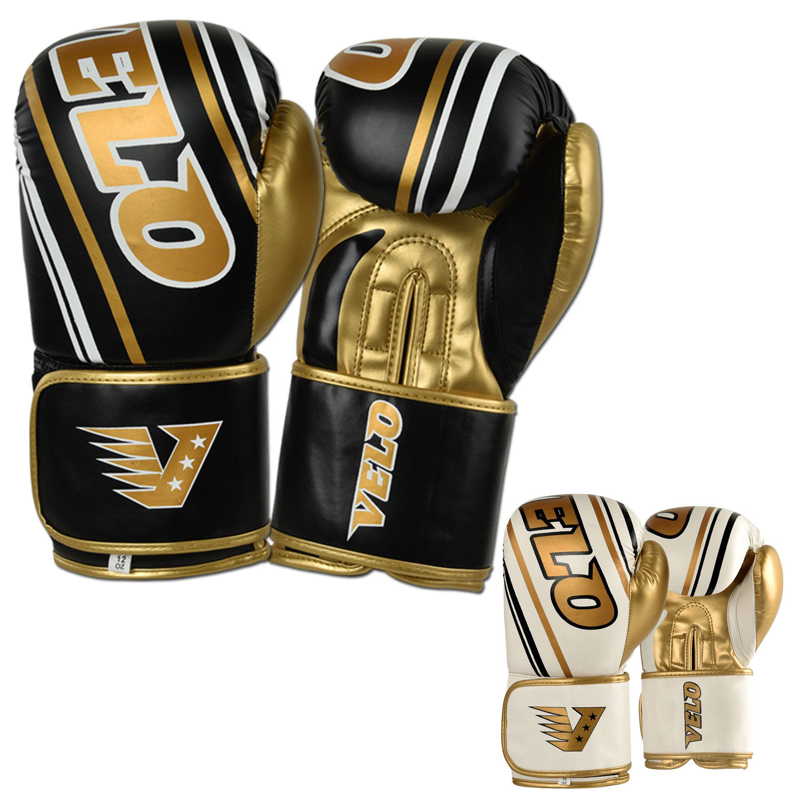 VELO Boxing Gloves - Golden Black