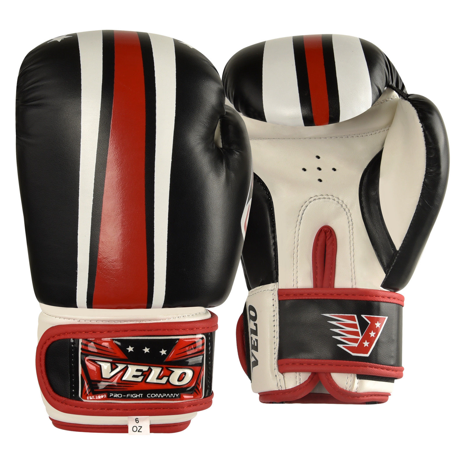 VELO Boxing Gloves - Red-White